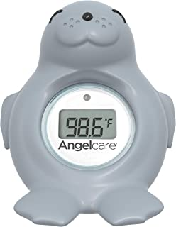 Angelcare Baby Bath & Room Thermometer - Happy Seal, Grey