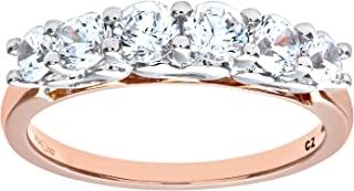 Citerna 9 克拉红色和白金立方氧化锆戒指
