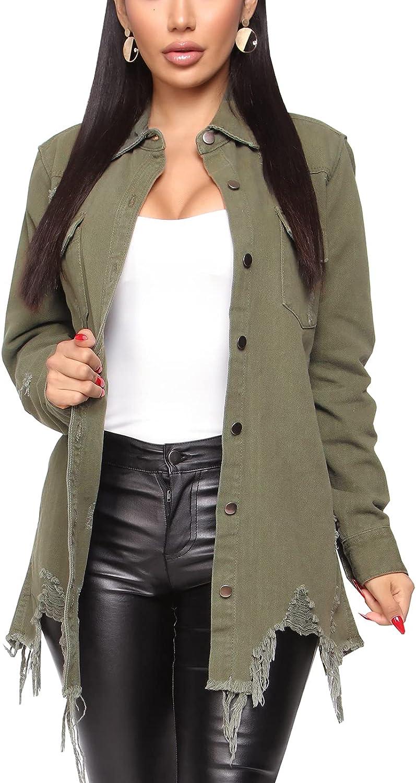 Women's Denim Jacket Ranking TOP17 Classic Distressed Boyfrie Tassels Indefinitely Fray Hem