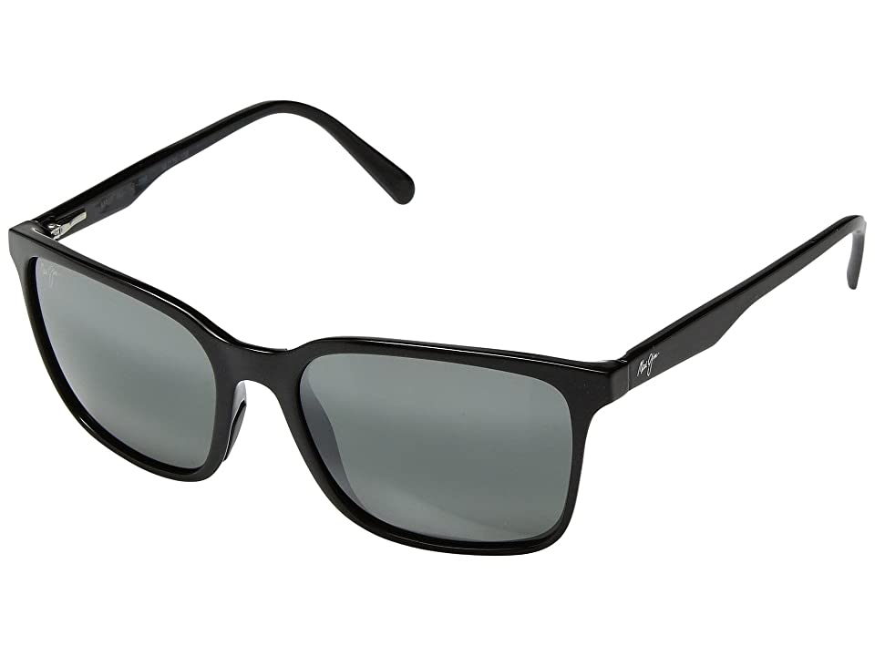 Maui Jim Wild Coast (Midnight Black/Neutral Grey) Athletic Performance Sport Sunglasses