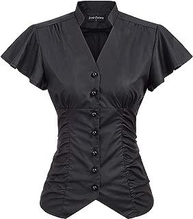 Best short sleeve victorian blouse Reviews