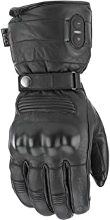Highway 21 Radiant Heated Men's Cold Weather Motorcycle Leather Glove Waterproof Black Size XL