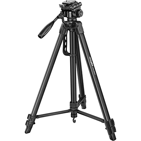DIGITEK® (DTR 550LW) (170 CM) Tripod For DSLR, Camera |Operating Height: 5.57 Feet | Maximum Load Capacity up to 4.5kg | Portable Lightweight Aluminum Tripod with 360 Degree Ball Head | Carry Bag Included (Black)