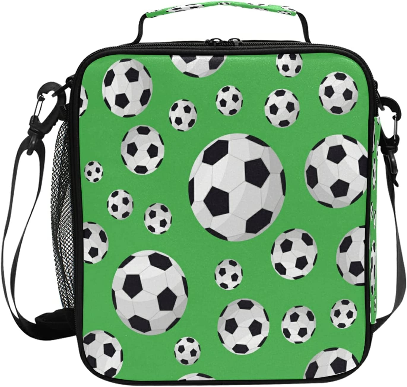 Lunch National uniform Inventory cleanup selling sale free shipping Bag Kids Boys Girls Insulated Game Soccer Football Lunchbo
