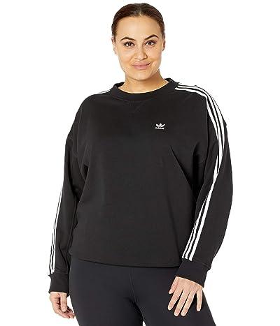 adidas Originals Plus Size Oversized Sweatshirt (Black) Women
