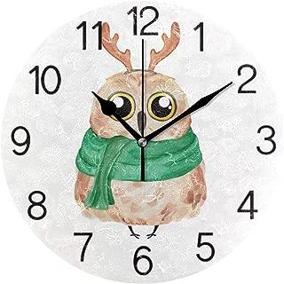 Chovy 掛け時計 置き時計 北欧 おしゃれ かわいい サイレント 連続秒針 壁掛け時計 インテリア フクロウ 白 ホワイト 可愛い かわいい 部屋装飾 子供部屋 プレゼント