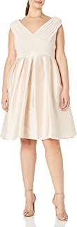 Adrianna Papell Women's Plus Size Tafetta Fit and Flare Dress