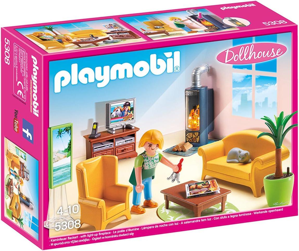 PLAYMOBIL Living Room 数量限定アウトレット最安価格 with Fireplace 売れ筋ランキング
