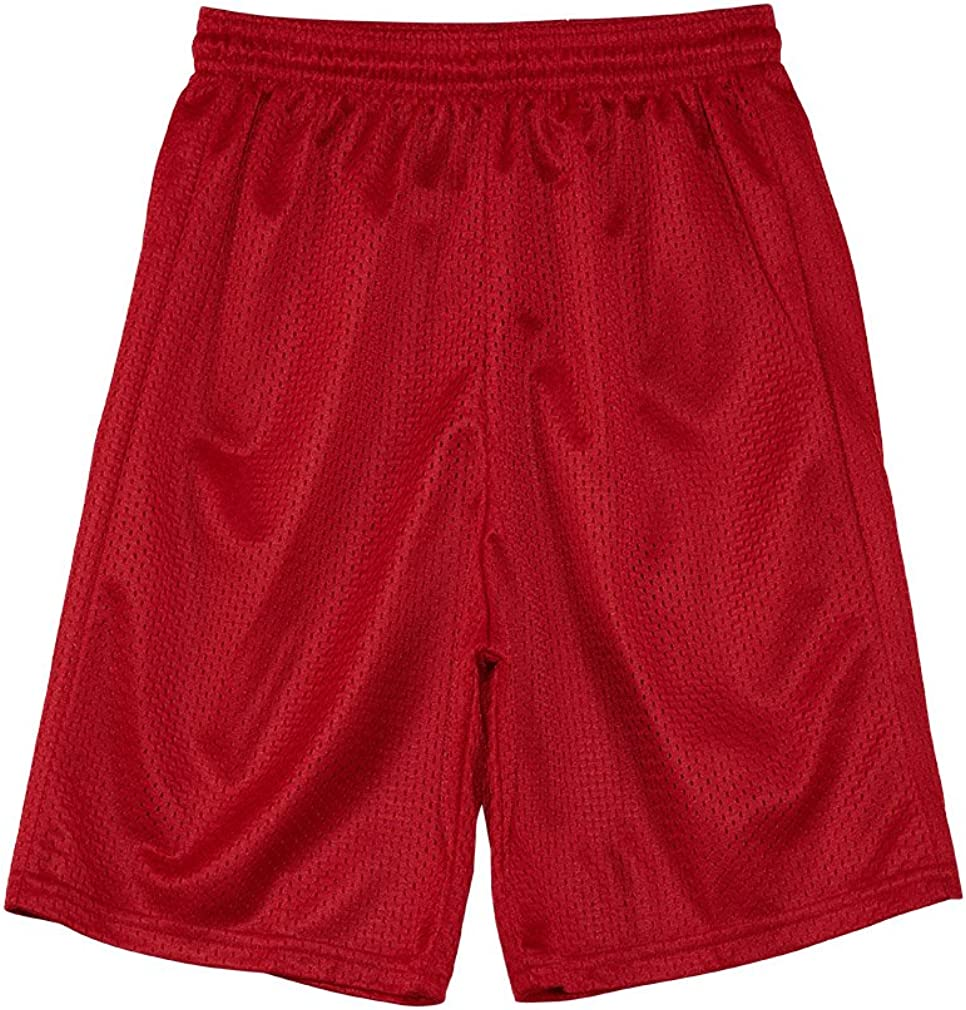 Alleson Athletic Youth Unisex Extreme Mesh Shorts Big Kids Style: 566Py-SCARLET/RED Size: S
