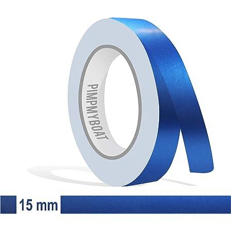 Siviwonder Zierstreifen Blau Metallic Matt In 15 Mm Breite Und 10 M Länge Für Auto Boot Jetski Modellbau Klebeband Aufkleber Folie Dekorstreifen Auto