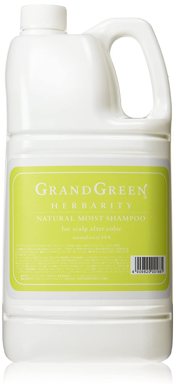 粗い水差し箱ニューウェイジャパン グラングリーン ナチュラルモイストシャンプー 2000ml