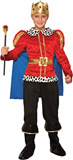 Forum Novelties Royal King Costume for Kids – Regal Costume Accessory with Cape, Shirt, and Crown - Small