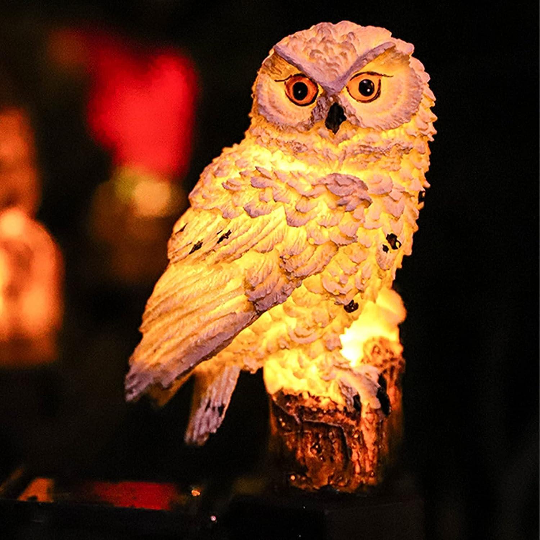 DOUBLE2C Owl Solar Light shop Dec Powered Popular standard Outdoor Garden