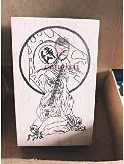 鬼滅の刃 十二鬼月 上弦鬼 木製印章 大人/子供贈り物 黒死牟 童磨 猗窩座 半天狗 玉壺 獪岳 鳴女 妓夫太郎 堕姫 木製印鑑 特質 木質デラックスクラシック 男女兼用 (鳴女,3*3*2cm)