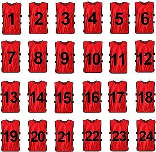 12pcs Lot de Chasuble Gilet de Sport Adultes Maillots Veste Surv/êtement dEntra/înement Respirant pour Hommes Femmes pour Football Basket-ball Rugby VGEBY .