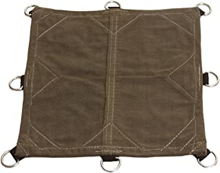 Tarp Nation RG12005007OD3CS Heavy Duty Canvas Tarp with D-Rings, Water, Mold, and Mildew Resistant, 18 oz.