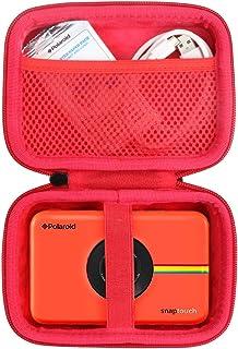 Khanka Duro Viaje Estuche Bolso Funda para Polaroid Snap/Snap Touch 2.0 Touch Cámara Digital (Cremallera roja)