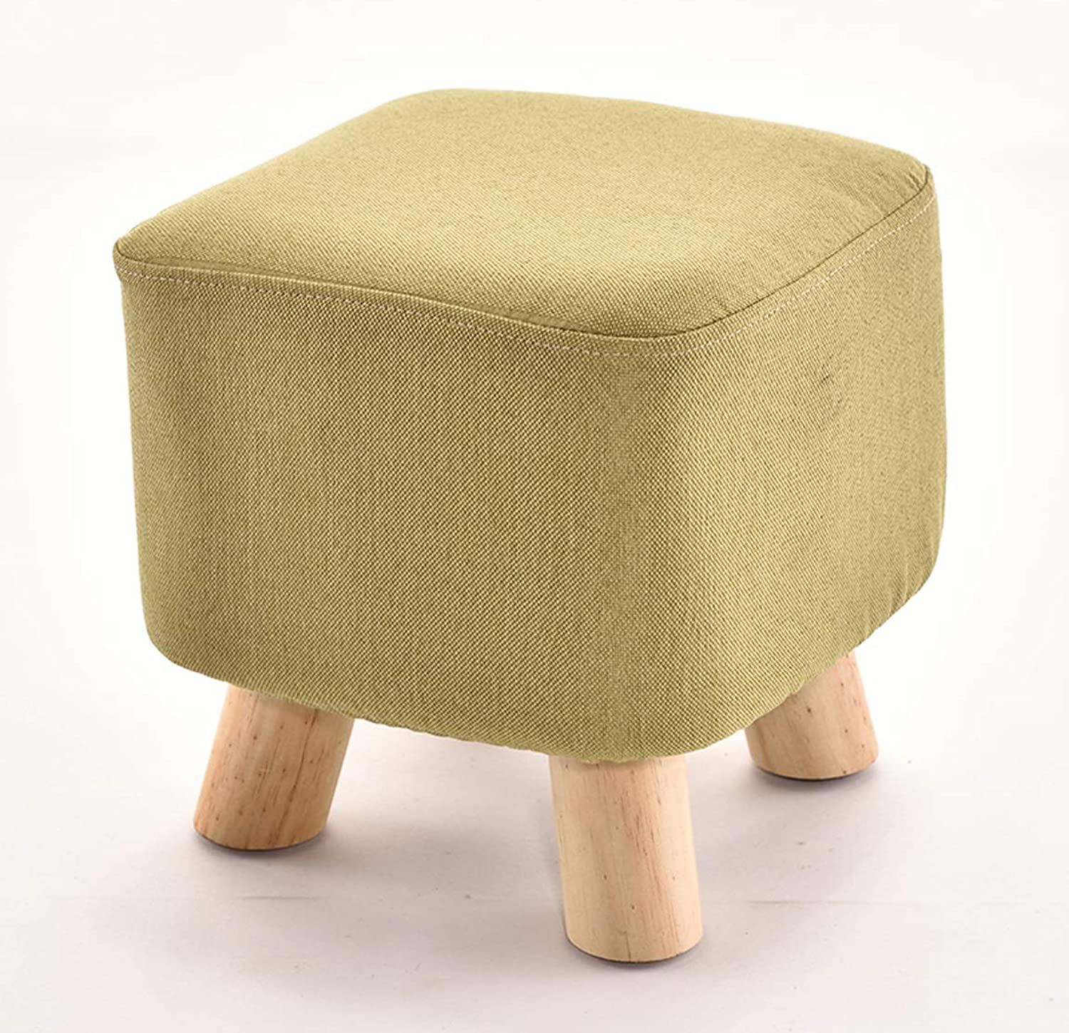 LRW Small Stool Solid Tea Table Low Stool Fashion Creative Adult shoes shoes Stool Sofa Stool Bench Green