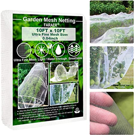 98x197in Winmany Garden Plant Netting Vegetable Plant Protective Mesh Net Greenhouse Plant Barrier Fruit Flower Crops Mesh Cloth for Protect Garden Plants