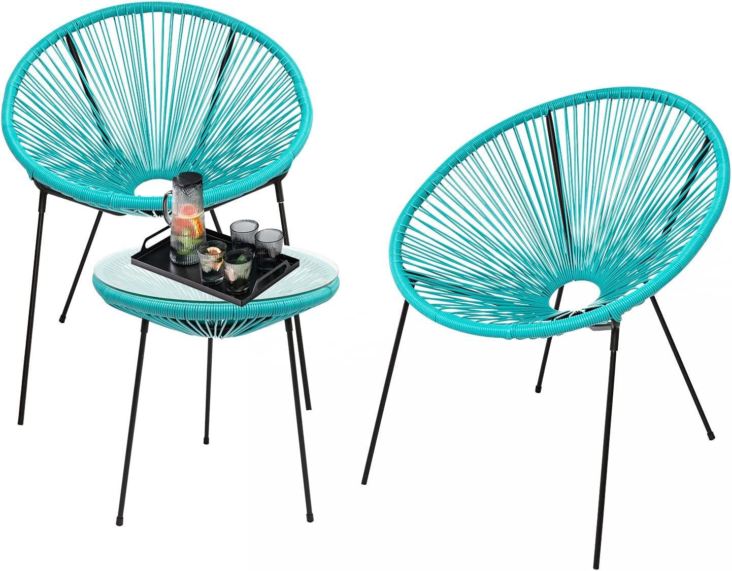 3-Piece Outdoor Seating All items free shipping Acapulco All-Weather Furnit Chair Patio Great interest