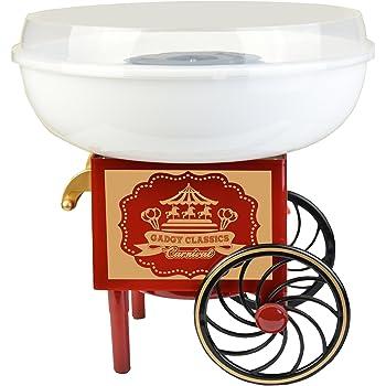 Gadgy ® Maquina de Algodón de Azúcar | Cotton Candy Machine para Casa | USA Azúcar Normal o Caramelos Duros | Estilo Retro para Fiesta y Ocasiones Especiales | Igual Que la Feria!: Amazon.es: Hogar