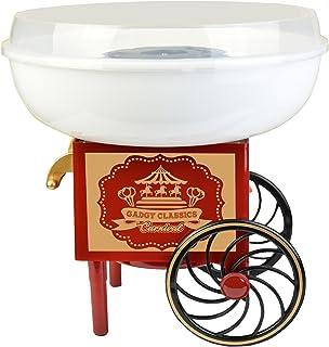 Gadgy ® Maquina de Algodón de Azúcar | Cotton Candy Machine para Casa | USA Azúcar Normal o Caramelos Duros | Estilo Retro...