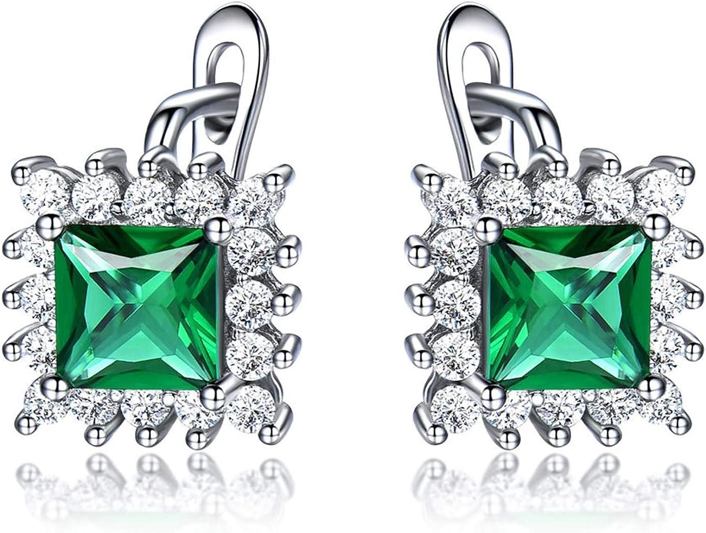 Aokarry Womens Fashion S925 Silver Stud Kansas City Mall Square Earrings Washington Mall