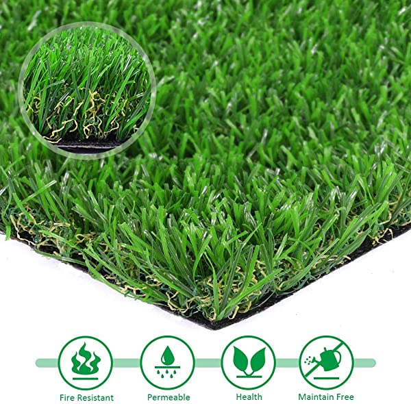 Artificial Lawn 7 X 12 Synthetic Turf Fake Grass Indoor Outdoor Landscape Pet Dog Ar 7 X12 Green