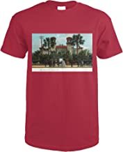 St. Augustine, Florida - Hotel Alcazar Exterior View 35064 (Cardinal Red T-Shirt X-Large)