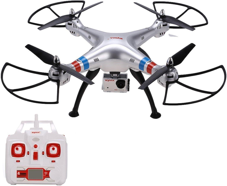 la mejor selección de Syma Quadcopter Drone RC X8G 2.4 GHZ con con con Camara HD 8.0MP 6-AXIS Gyro 360°Giratorio Modo sin Cabeza Videocamara RTF Suspension de Altura UFO Prima Hover con Control Remoto, EU Enchufe (EU STOCK)  el mejor servicio post-venta