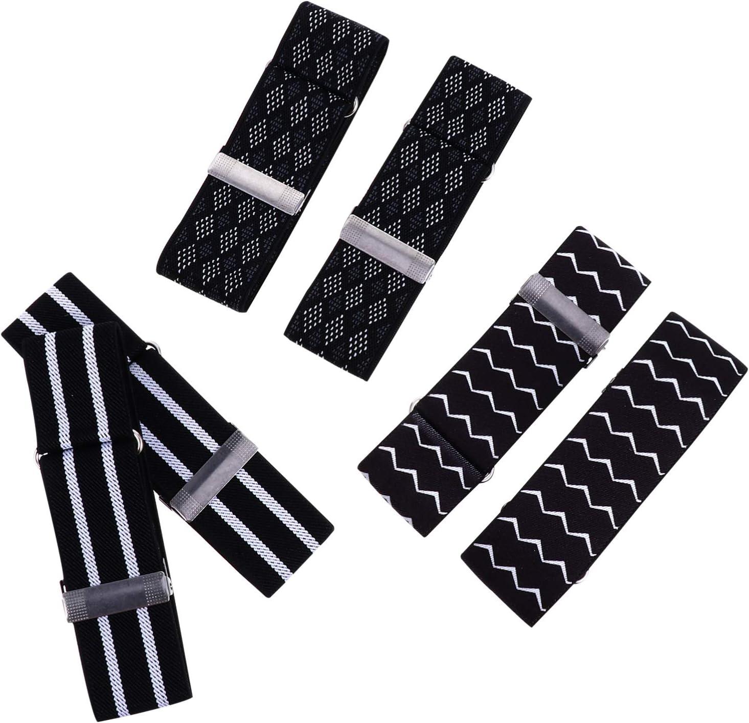 Healifty 3 Pair Sleeve Garters Shirt Sleeve Bands Elastic Armband Non Slip Shirt Sleeve Garters for Women Men