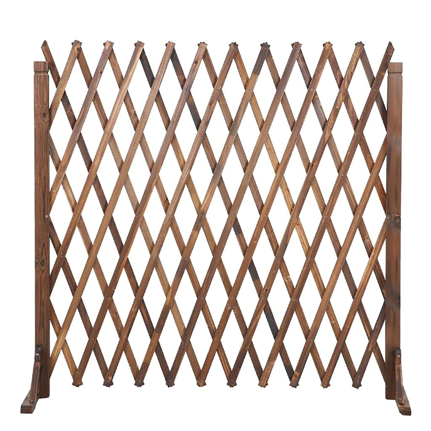 モザイクエステート襟木製フェンスガーデンテレスコピックフェンスガーデン装飾グリッドフェンス, 3サイズ。 (Size : Height80cm/31.5inch)