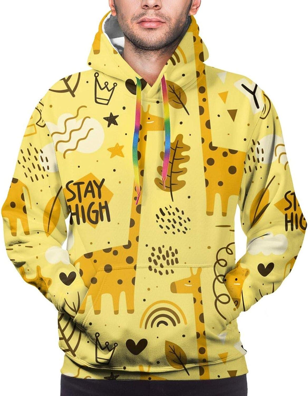 Hoodie For Mens Womens Teens Yellow Giraffes Double-Sided 3d Sweatshirt Hoodie