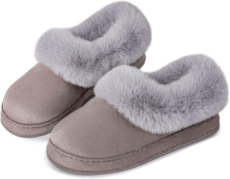FamilyFairy Women's Max 72% OFF Fluffy Vegan Fur Sh Warm House Slippers Max 50% OFF