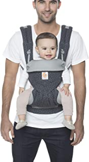 Ergobaby Carrier, 360 All Carry Positions Baby Carrier, Starry Sky Grey