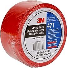 3M 471 Hoogwaardig zacht PVC-plakband, 50 mm x 33 m, rood (24 stuks)