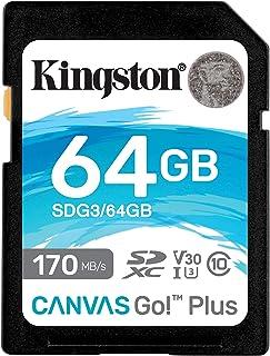 キングストン SDXCカード 64GB 最大170MB/s Class10 UHS-I U3 V30 4K Canvas Go! Plus SDG3/64GB 永久保証