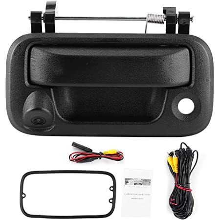Qiilu Car Rear View Camera, Trunk Tailgate Handle Rear View Camera Reverse Monitoring Fit for Ford F150/F250 /F350/F450/F550