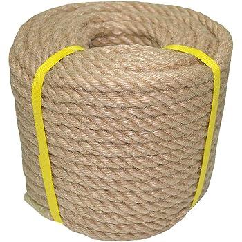100 Natural Jute Rope Hemp Rope 50 Feet 1 2 Inch Strong Jute Twine For Diy Crafts Gardening Hammock Home Decorating Amazon Com