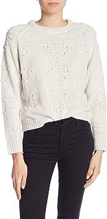 John + Jenn Womens Sweater Large Crewneck Knit White Ivory L