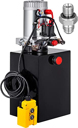 wholesale Mophorn sale Hydraulic Pump Double Acting Hydraulic Power Unit 12V DC Dump Trailer Pump 3200PSI Hydraulic Power Unit for Dump 2021 Trailer Car Lifting (12 Quart, Steel/Double Acting) outlet sale