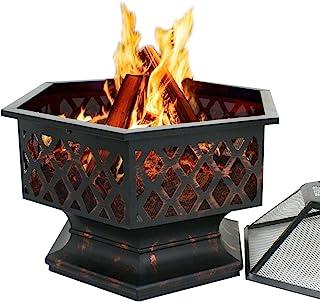 Garde-chasse TIR hexagonale Fire Pit finition naturelle avec Grill *