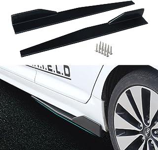 Saias laterais Dtouch Racing para veículos universais, preto, 860 mm, externo, extensões, divisores, difusores de lábios, ...