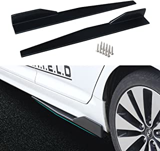 DTOUCH RACING Side Skirts Fits Universal Vehicles Black 860mm Exterior Side Bottom Line Extensions Splitter Lip Car Diffusers