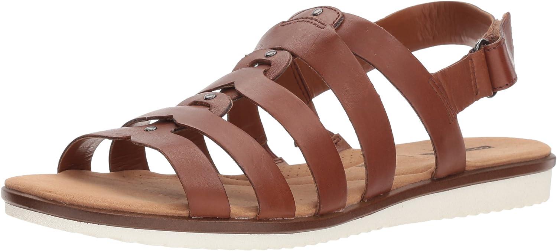 CLARKS Woherren Kele Jasmine Sandal, Tan Leather, 8.5 Medium Medium US  bester Service