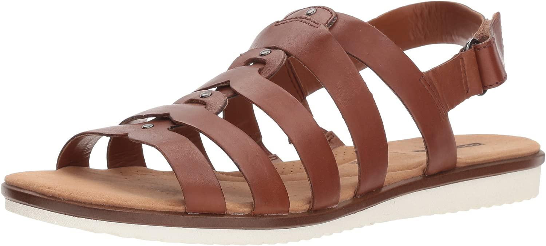 Clarks Wouomo Kele Jasmine Seal, Tan Leather, 7 Wide US