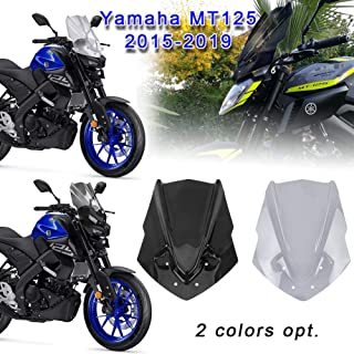 Color : Tan Gu3Je Motorcycle Wind Deflectors Motorcycle Windshield Windscreen Double Bubble For Suzuki SV650 SV650S 2003-2012 SV1000 SV1000S 2003-2008 Motorbike Wind Protection