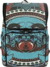 SLHFPX Laptop Backpack Sugar Skull School Backpack for Women Large Boxy Bag