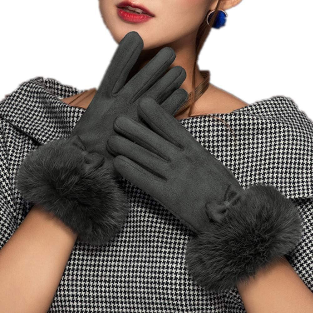 Women Winter Gloves, Warm Windproof Touchscreen Gloves Women Ladies Mittens Cold Weather Thick Warm Gloves