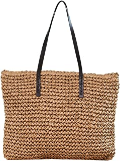 Womens Purse Straw Shoulder Bag Handbag Tote Girl's Beach Bag Summer Fashion